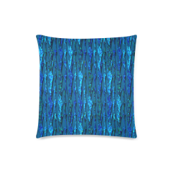"Abstract Scales of Blue Strands Custom Zippered Pillow Case 18""x18""(Twin Sides)"