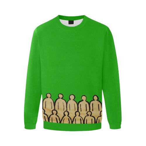 crowd trans Men's Oversized Fleece Crew Sweatshirt (Model H18)