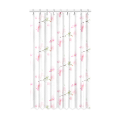 "Pattern Orchidées Window Curtain 52"" x 84""(One Piece)"