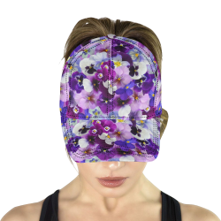Pretty Purple Pansies All Over Print Dad Cap C (6-Pieces Customization)
