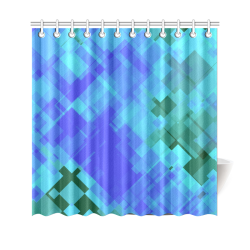 """Geo abstract 2 Shower Curtain 69""""x70"""""""