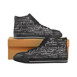 Basketball Top Graffiti 3 Women's Classic High Top Canvas Shoes (Model 017)