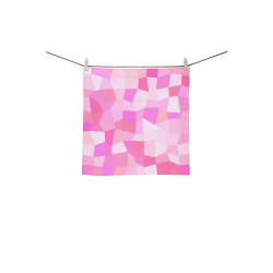 "Bright Pink Mosaic Square Towel 13""x13"""
