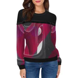 2560x1600 1 Women's Fringe Detail Sweatshirt (Model H28)