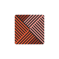 Diagonal Striped Pattern Square Coaster