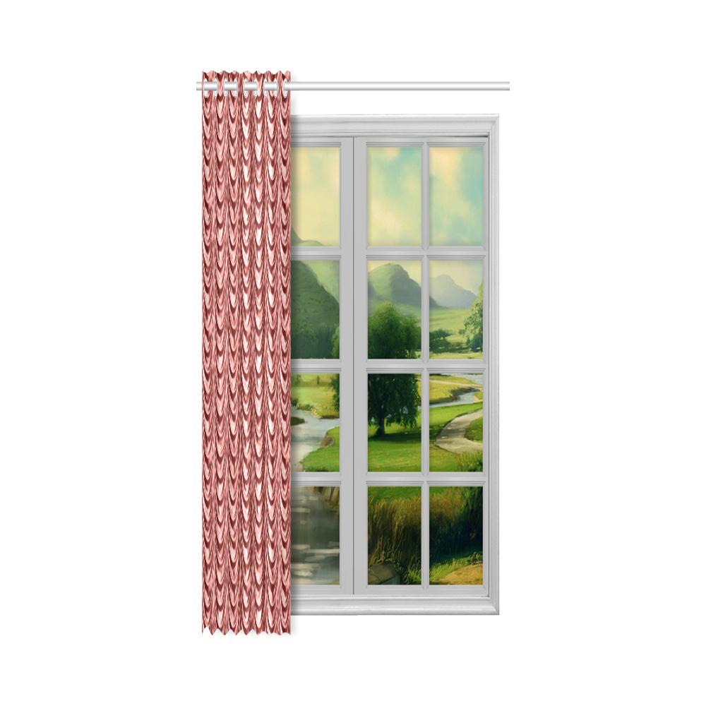 """Burgundy fold waves New Window Curtain 50"""" x 96""""(One Piece)"""