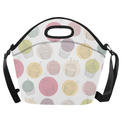 Colorful Cupcakes Neoprene Lunch Bag/Large (Model 1669)