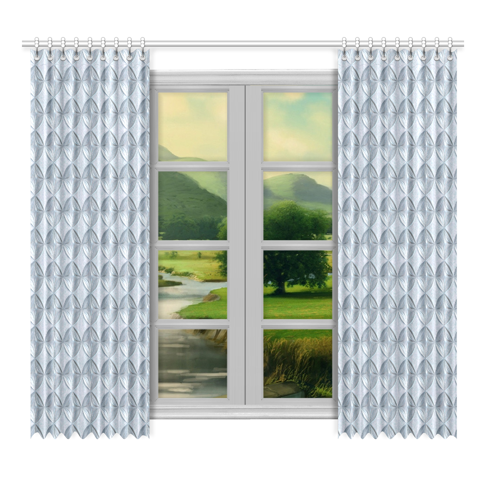 """Glass pattern on a marble background Window Curtain 52""""x96""""(Two Piece)"""