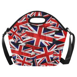 Union Jack British UK Flag Neoprene Lunch Bag/Large (Model 1669)