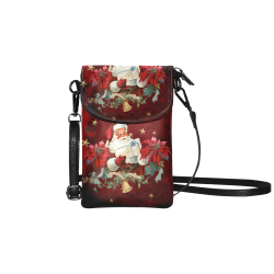 Santa Claus with gifts, vintage Small Cell Phone Purse (Model 1711)