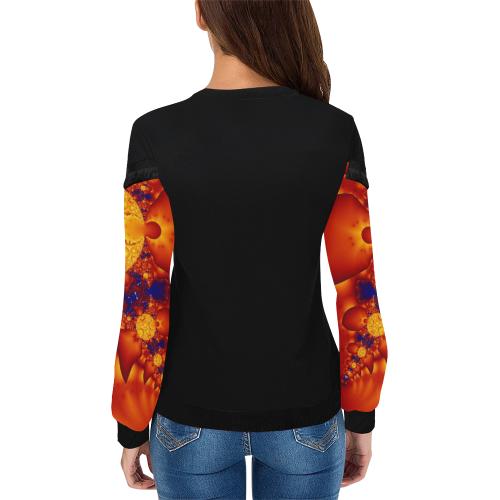 Planetary Fire Women's Fringe Detail Sweatshirt (Model H28)