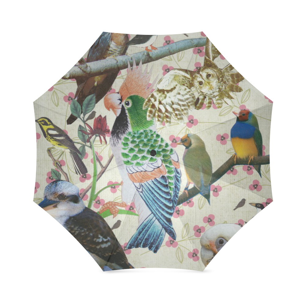 Pretty Birdies umbrella Foldable Umbrella (Model U01)