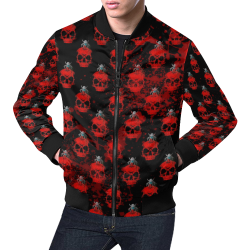 Skull 2020 by Nico Bielow All Over Print Bomber Jacket for Men (Model H19)