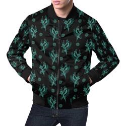 Magical Bird All Over Print Bomber Jacket for Men (Model H19)