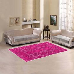 Ayumi Vintage Pink Floral Area Rug 5'x3'3''