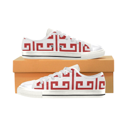 Classic Red Women's Classic Canvas Shoes (Model 018)