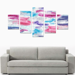 Abstract Watercolor Brush Strokes Canvas Print Sets B (No Frame)