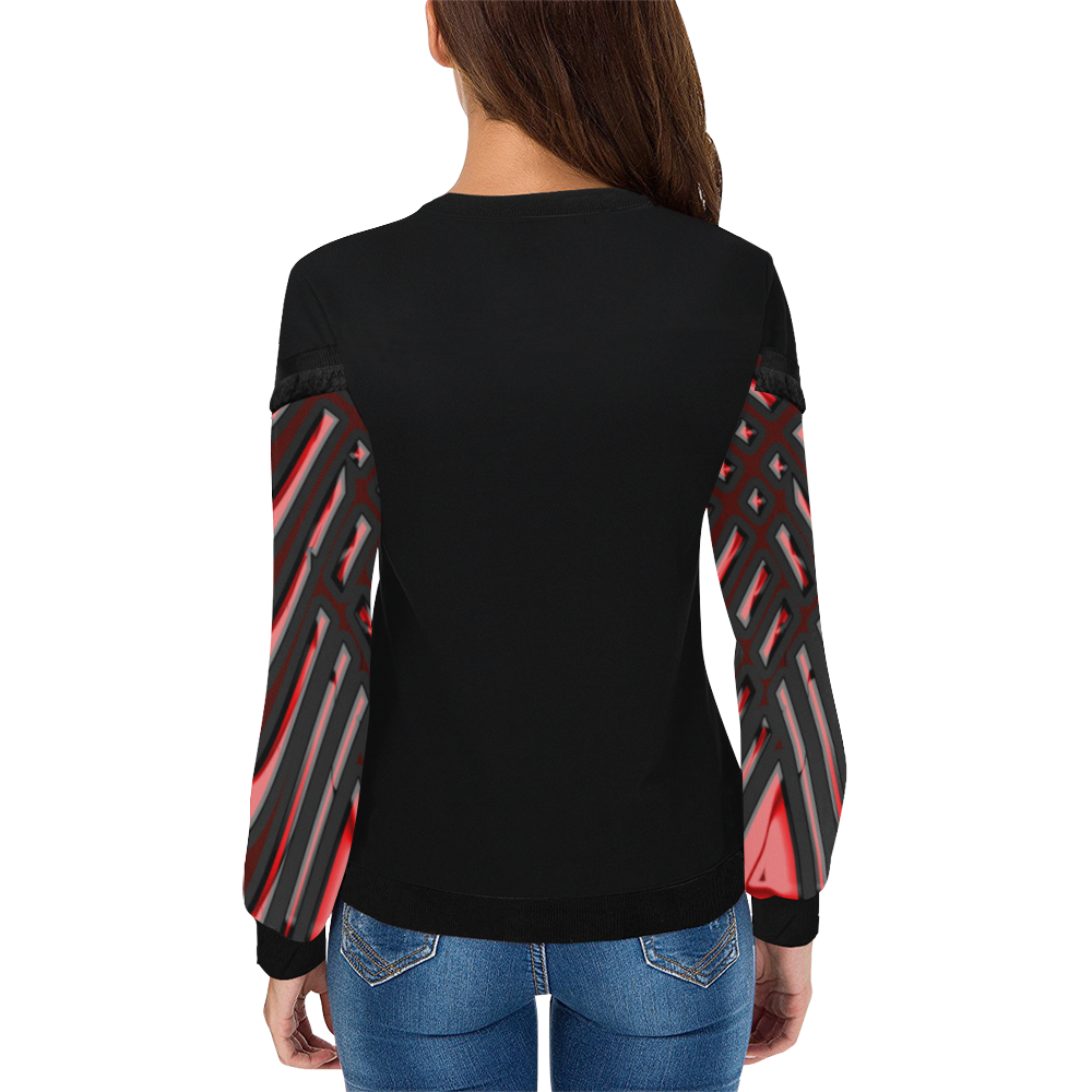 abstract_5500_2019_RBW_7h Women's Fringe Detail Sweatshirt (Model H28)