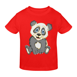 Smiling Panda Red Sunny Youth T-shirt (Model T04)