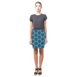 Blue Grey Pattern Nemesis Skirt (Model D02)