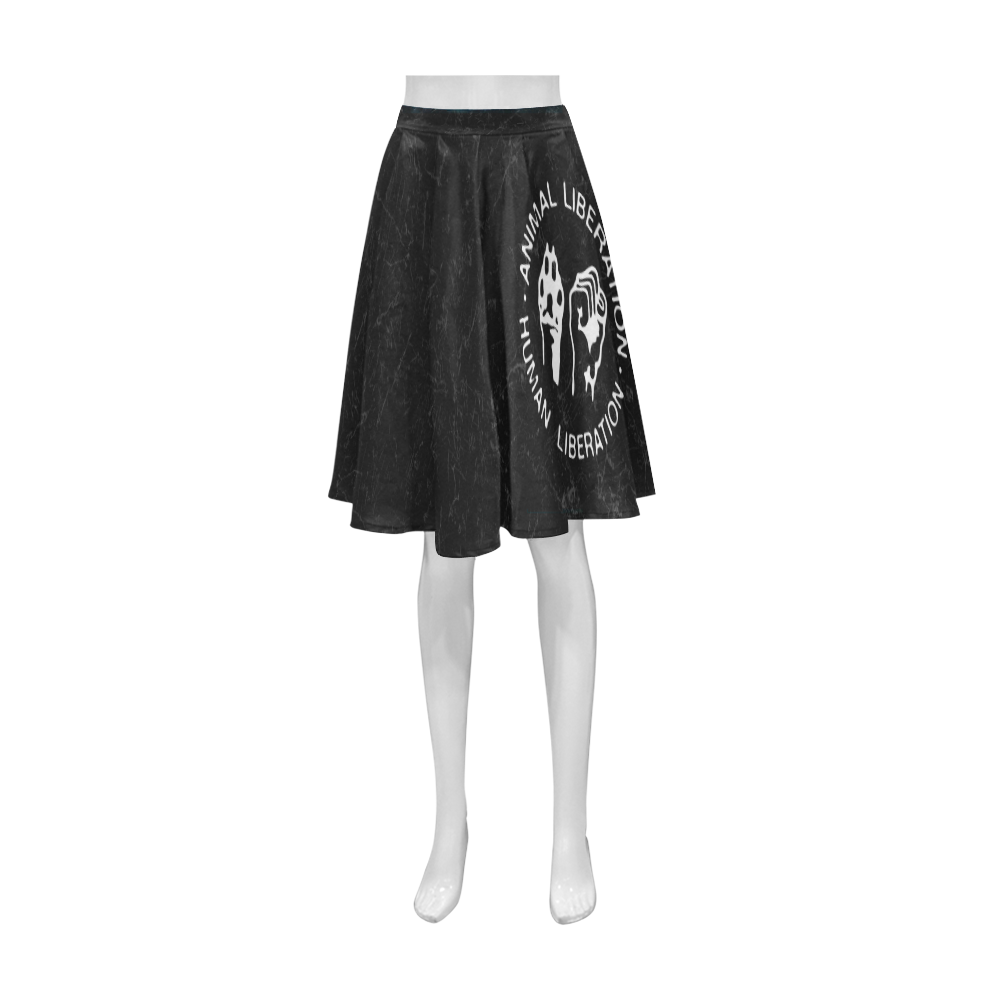 Animal Liberation, Human Liberation Athena Women's Short Skirt (Model D15)