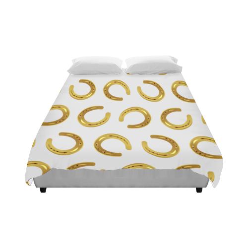"""Golden horseshoe Duvet Cover 86""""x70"""" ( All-over-print)"""