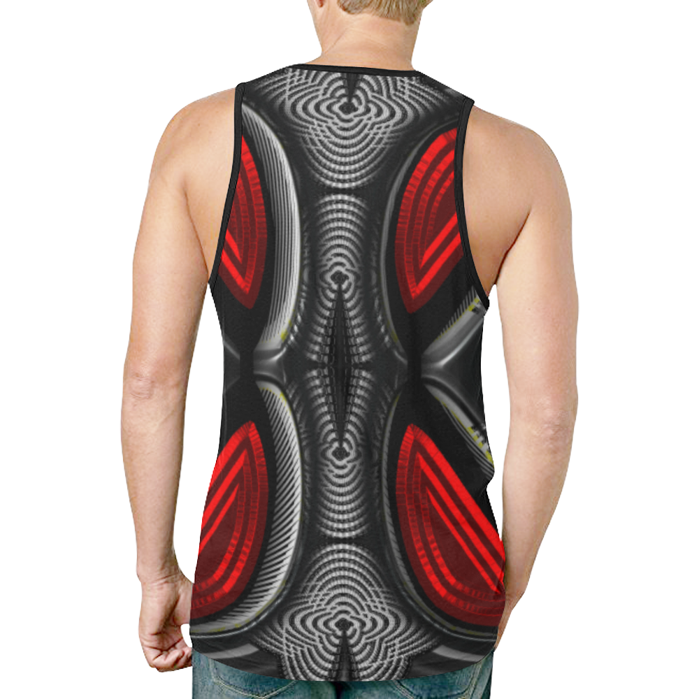abstract_5500_2019_RBW_93h New All Over Print Tank Top for Men (Model T46)