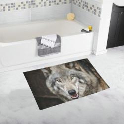 Wolf Bath Rug Bath Rug 20''x 32''