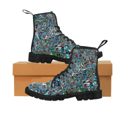VanGogh Swirl by Jera Nour Martin Boots for Women (Black) (Model 1203H)