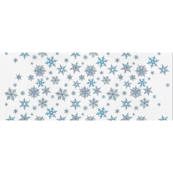 """Snowflakes, Blue snow original design, Christmas Gift Wrapping Paper 58""""x 23"""" (1 Roll)"""