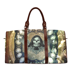Awesome scary skull Waterproof Travel Bag/Small (Model 1639)