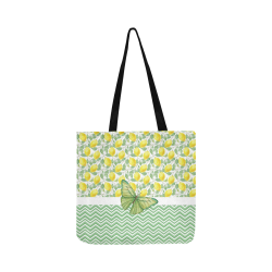 Butterfly And Lemons Reusable Shopping Bag Model 1660 (Two sides)