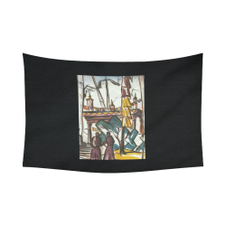 """harvest 2 Cotton Linen Wall Tapestry 90""""x 60"""""""
