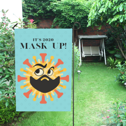Garden Flag Mask Up COVID-19 Garden Flag 12''x18''(Without Flagpole)