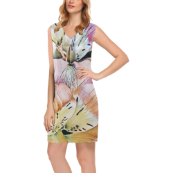 Impression Floral 10192 by JamColors Phoebe Sleeveless V-Neck Dress (Model D09)