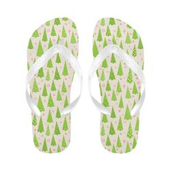 Christmas Trees Forest Flip Flops for Men/Women (Model 040)