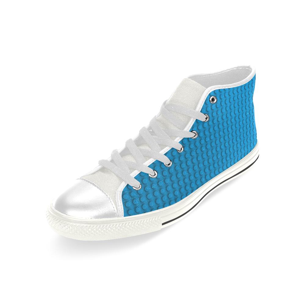 PLASTIC Men's Classic High Top Canvas Shoes (Model 017)
