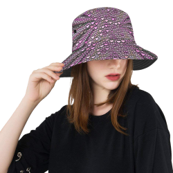 hearts everywhere C by JamColors All Over Print Bucket Hat