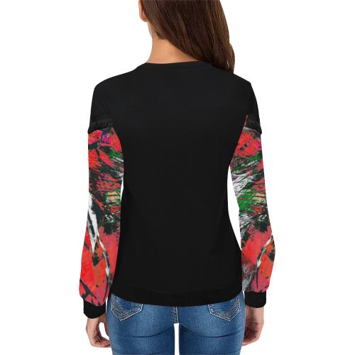 wheelVibe2_8500 46 low Women's Fringe Detail Sweatshirt (Model H28)