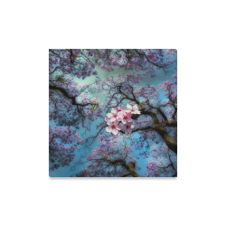 "Cherry blossomL Canvas Print 16""x16"""