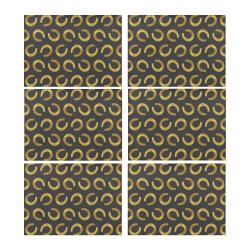 Golden horseshoe Placemat 14'' x 19'' (Six Pieces)