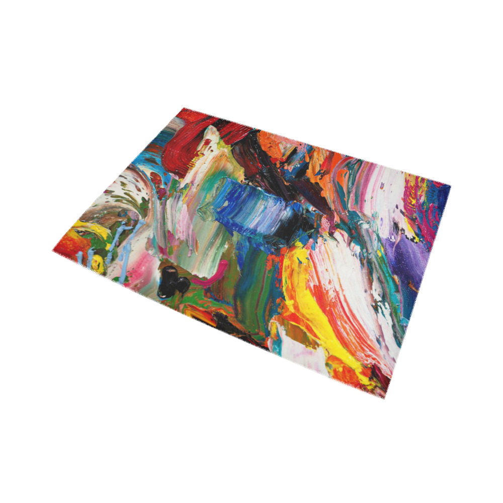 Colorful Abstract Detail of Painting Area Rug7'x5'