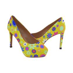 FLORAL DESIGN 5 Women's High Heels (Model 044)