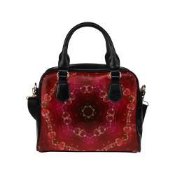 Love and Romance Glittering Ruby and Diamond Heart Shoulder Handbag (Model 1634)