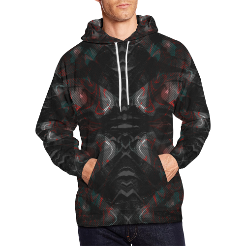 Dribled Voice Crew All Over Print Hoodie for Men (USA Size) (Model H13)