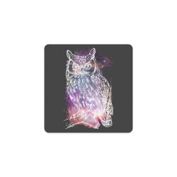 Cosmic Owl - Galaxy - Hipster Square Coaster