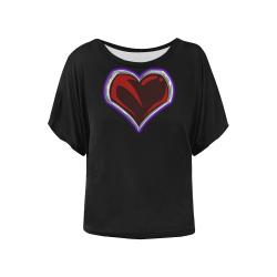 """""""Sacred"""" Logo Women's Bedtime Shirt Women's Batwing-Sleeved Blouse T shirt (Model T44)"""