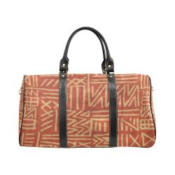 African rust & tan tribal 37 oz Large Travel Bag New Waterproof Travel Bag/Large (Model 1639)