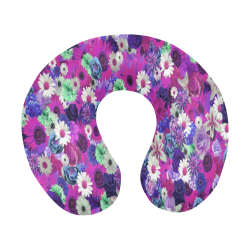 Purple Mint Fantasy Garden U-Shape Travel Pillow