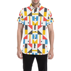 Cool Shapes Geometric Abstract Men's All Over Print Short Sleeve Shirt (Model T53)